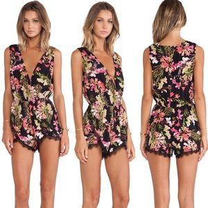 Lovers + Friends Can't Let Go Tropical Romper